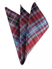 Pocket Square Red & Blue Tartan Handkerchief