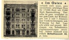 Neues vermiethetes prächtiges Haus Immobilien in Berlin Historische Annonce 1899