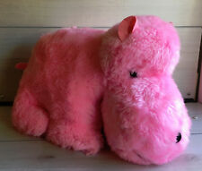 "A54 Vintage 1980 Possum Trot Pink Hippo Plush! 13"" Lovey Stuffed Toy"