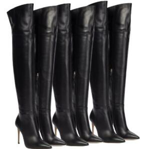 Runway Women's Pointy Toe Sexy High Heel Over The Knee Thigh High Boots Party L