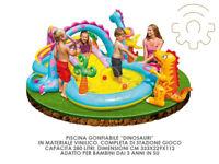 Intex 57135 piscina gonfiabile Dinosauri cm 333x229x112h per bambini da giardino