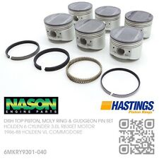 "+040"" DISHTOP PISTON/MOLY RINGS 6 CYL RB30ET TURBO 3.0L MOTOR HOLDEN VL COMMODOR"