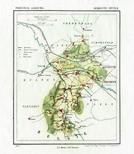 ANTIQUE MAP-NETHERLANDS-TOWN PLAN-WITTEM-LIMBURG-KUYPER-1865
