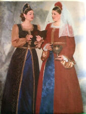 Butterick 6197 Pattern Historical Renaissance Queen Costume Dress 16W-20W Uncut