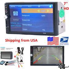 "7"" 2Din HD Touch Screen Car SUV Video MP5 Stereo Radio Audio Player+170° Cam 16G"