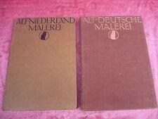 2 antiguas libros__Alemán antiguo pintura_u. Old Dutch pintura__1909