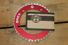 NEW Brev. M Masi Fixie Fixed Gear Chain Ring Sprocket Chainring 42t Red 130 BCD