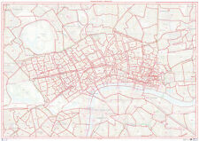 Postcode City Sector Map of Central London - Face Laminated Write-On Wipe-Off