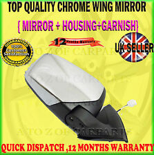 FOR MITSUBISHI L200 2.5 DID 06> COMPLETE CHROME DOOR WING MIRROR DRIVER SIDE RH