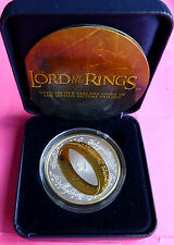 """2003 LORD OF THE RINGS  SILVER GOLD """"ONE RING TO RULE THEM ALL""""   PROOF COIN"""