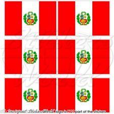 Perù Peruviano BANDIERA dello stato, della MARINA GUARDIAMARINA Mobile Cellulare Mini Adesivi-Decalcomanie x6
