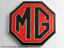 NEW Enamel Chrome Black and Red MG BADGE MGB ZR ZS ZT 59mm