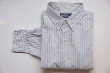 Ralph Lauren Hemd langarm - Gr L - blau gestreift - 131017-178
