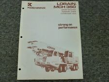 Koehring Lorain MCH350 Crane Specifications & Lifting Capacities Manual