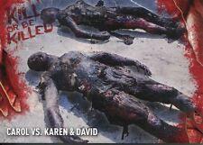 Walking Dead Survival Box Kill Or Be Killed Chase Card #3 Carol vs. Karen & Da