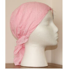 Ladies Cotton Fitted Bandana Headscarf Pink Sparkle Spot One Sz Scarf Easy Tie