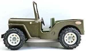 Vintage 1960s Tonka USA Pressed Steel Military Willys Jeep XR-101 Orig. Cond.