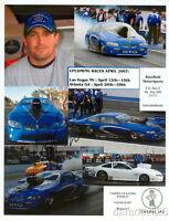 2007 Justin Humphreys signed Race Redi Pontiac GTO Pro Stock NHRA postcard