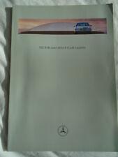 Mercedes E Class Saloons brochure Mar 1997 + price list