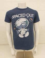 Smurfs Spaced Out Blue Cotton Blend T-Shirt Men's Small Satisfaction Guaranteed