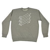 DOG ILLUSION SWEATSHIRT design birthday present sweater slogan funny gift 123t