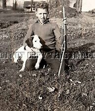 ANTIQUE REPRO 8X10 PHOTO BOY ENGLISH SETTER PUPPY DAISY KING LEVER ACTION BB GUN