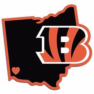 NFL Cincinnati Bengals Home State Auto Car Window Vinyl Decal Sticker