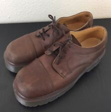 Doctor Martens Brown Platform Chunky Oxfords Women's 7 Brown Made In England