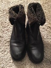 Blondo Zip Up Black Leather Fleece Lined Boots, Mens Sz 6.5, Made In Canada