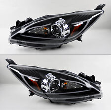 Mazda 3 2010-2014 Black Projector LED Light Bar DRL Headlights Pair RH LH