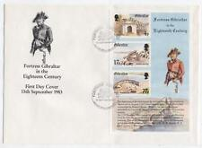 FDC D07 Gibraltar 1983 Block Fortress Eighteenth century