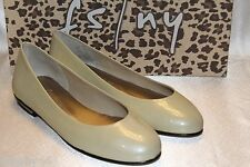 NEW! FRENCH SOLE FSNY Ivory Patent Leather FANCIFUL Ballet Flats Shoes 5.5 $200