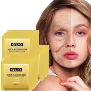 10 Packs Collagen Face Cream Moisturizing Whitening Lifting Firming Anti Wrinkle