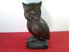 * Vintage Collectible Wooden Owl *. Excellent Condition, Hand Carved 0-8
