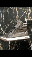 MICHAEL KORS Ladies High-Top Leather Glam Studded Sneakers Size 9