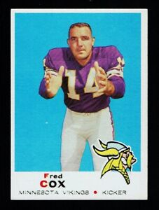 1969 Topps #217 Fred Cox EXMT+ Vikings
