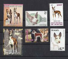 Rare Dog Art Postage Stamp Collection Ibizan Hound 6 Different Head & Body Mnh
