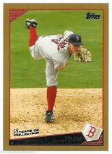 2009 TOPPS GOLD BORDER PARALLEL #349 Justin Masterson #1222/2009