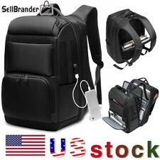 Men Extra Large Travel USB Charging Backpack 17'' Inch Laptop College School Bag