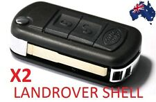 2x Land Rover 3 button REMOTE FLIP KEY SHELL CASE FOR Range Discovery Sport LR3