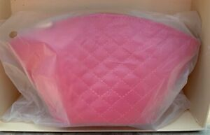 BARE MINERALS HOT PINK QUILTED FAUX LEATHER DOME MAKEUP BAG CASE TRAVEL CASE