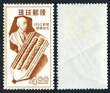 Ryukyu 29, Mint. Chofu Ota, journalist, and Pencil-shaped Matrix, 1953