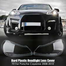Right+Left Headlight Lens Cover Transparents Shell For Porsche Cayenne 2008-2010