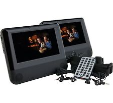 """BUSH 7"""" 8737 Twin Screen in car headrest DVD Players Multi Region  C75"""