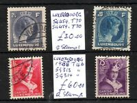 Luxembourg 1933-1944 used collection Cat Val £90 WS16400