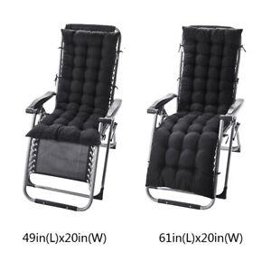 """61"""" 49"""" Chaise Lounger Cushion Pad Lounge Rocking Recliner Chair Sofa Mat"""
