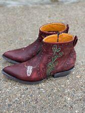 Old Gringo Skull Joplin Red Cowboy Boots Size 8.5 Women's Western