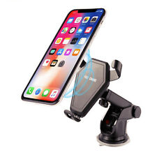 2 n1 Qi Wireless Car Charger Magnetic Air Vent Mount Holder For iPhone & Samsung