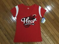 NWT Miami Heat NBA Women's Red V N Neck Shirt Top Blouse Tee Size L New