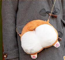 Puppy Lolita 3D Lovely Corgi Butt Ass Plush Shoulder Messenger Bags Handbag Bag